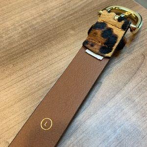 J. Crew Accessories - JCrew leopard belt, gold buckle